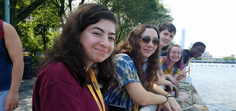 Adelphi Pre-College Students on a Trip to NYC